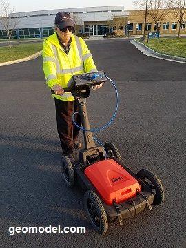 GeoModel plastic GPR cart for utility detection